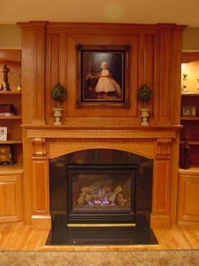 Custom Made Fireplace Mantel And Built-In Shelving