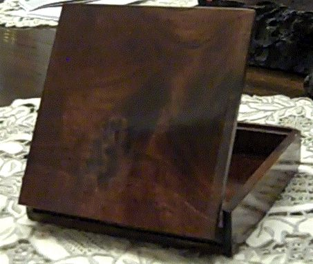 Custom Made Claro Walnut Cigarette Case With Lighter Compartment