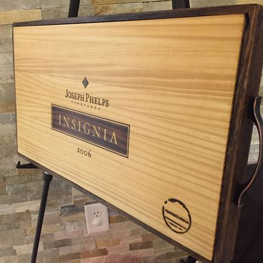 Custom Made Wine Tray Handmade White Oak And Insignia Original Panel Serving Tray.