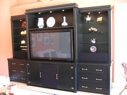 Custom Made Oriental Style Display And Media Cabinet