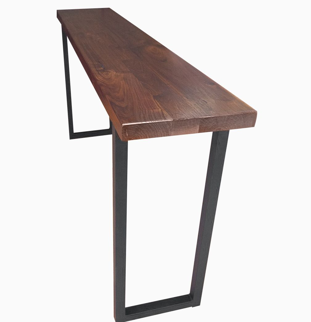 Buy a custom made walnut and steel console table made to order buy a custom made walnut and steel console table made to order from blowing rock woodworks custommade geotapseo Choice Image