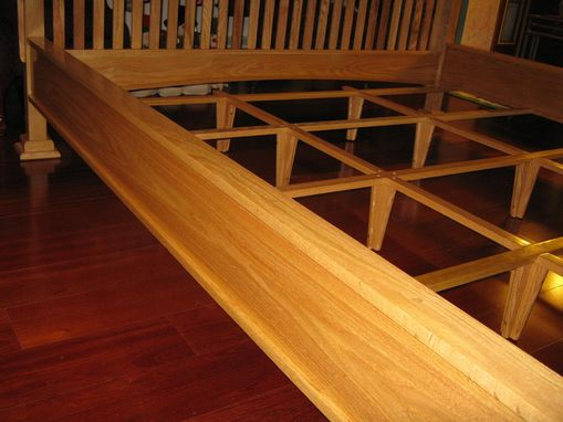 Custom Made Mission Style Red Oak Bed