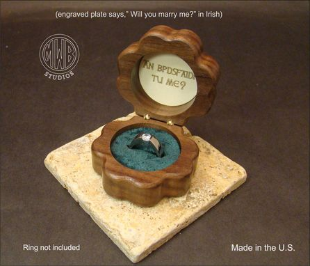 Custom Made Handcrafted Wood Ring Box With Free Shipping. Rb-44
