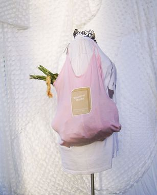Custom Made Pink Upcycled Tank Top Tote Bag