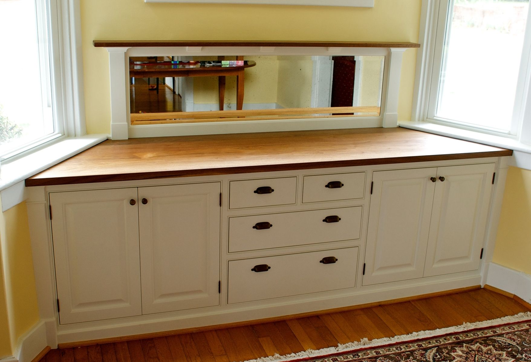Hand made built in buffet by mann designs - Custom made cabinet ...