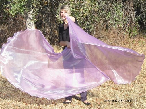 Custom Made 2 Single Layer Angel Wings Worship Flags (Chiffon), Choose Your Colour