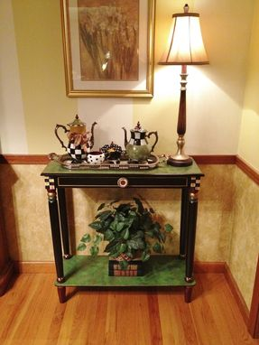 Custom Made Hand Painted Console Or Sofa Table