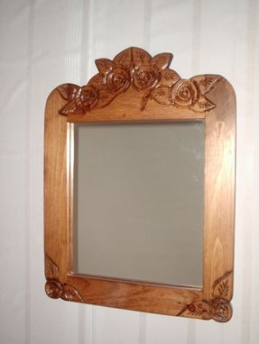Custom Made Mirror, Rose Carved Mirror