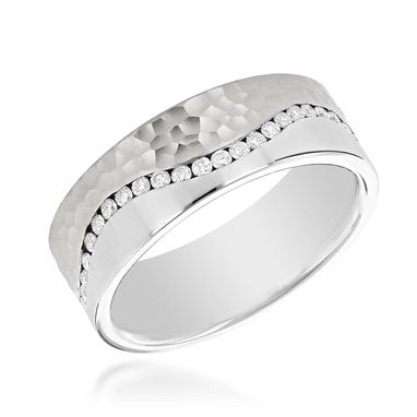 Custom Made Two Tone Mens Diamond Eternity Band Designer Ring By Luxurman