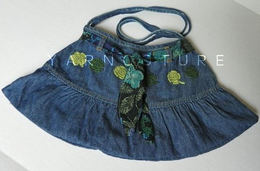 Custom Made The Old-Meets-New Denim Purse - Eco-Friendly