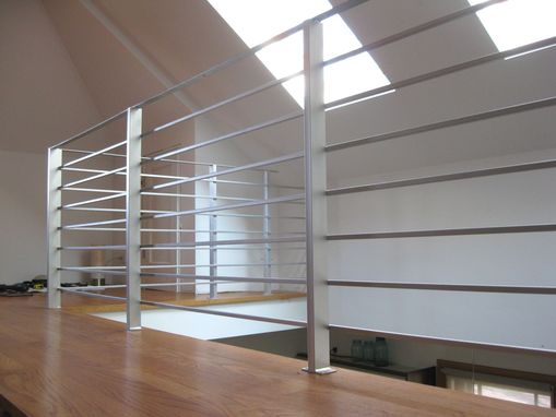 Indoor Handrails For Stairs Contemporary: Hand Made Modern Interior Railing By Bader Art Metal