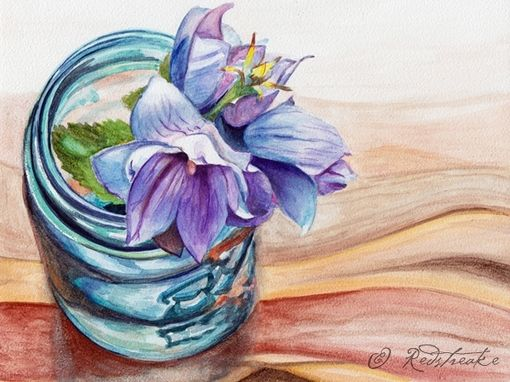 Custom Made Custom Ball Jar Illustration - Watercolor On Aquabord