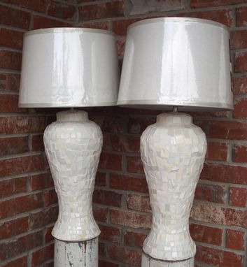 Custom Made Mosaic Table Lamps