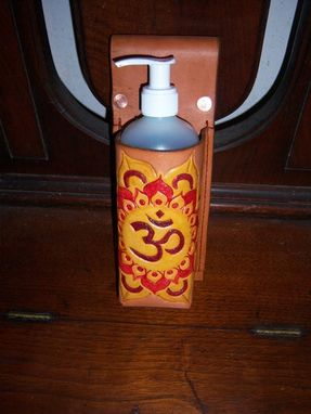 Custom Made Massage Lotion Holster W/ Leather Belt And Buckle And Custom Ohm Symbol