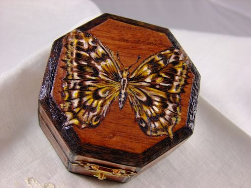 Custom Made Jewelry Wood Burned Boxes
