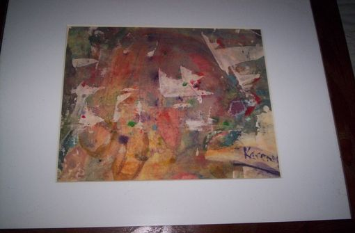 Custom Made Watercolor And Photo Transfer Onto Board