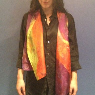 Custom Made Road To Happiness Silk Scarf