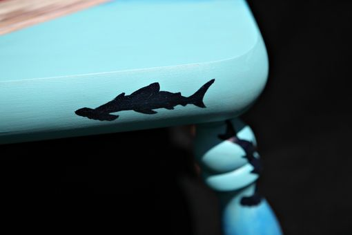 Custom Made Hand Painted Underwater Themed Child's Footstool
