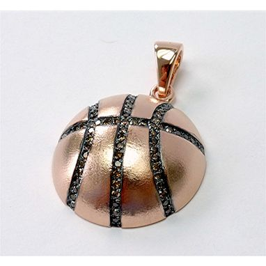 Custom Made Basketball Rose Gold Cognac Diamond