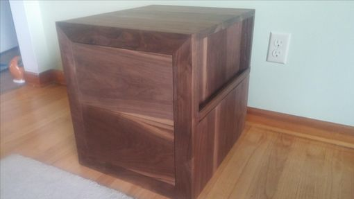 Custom Made Walnut Nightstand With Charging Station