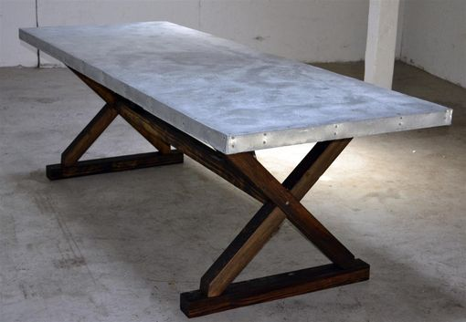 Custom Made Zinc Trestle Table