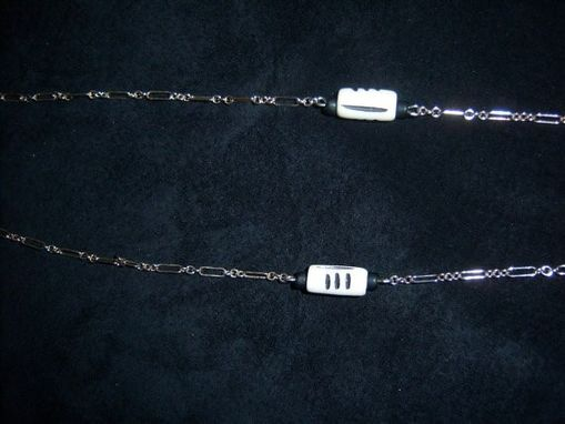 Custom Made Real Silver Necklace Chain With White Buddha Charm