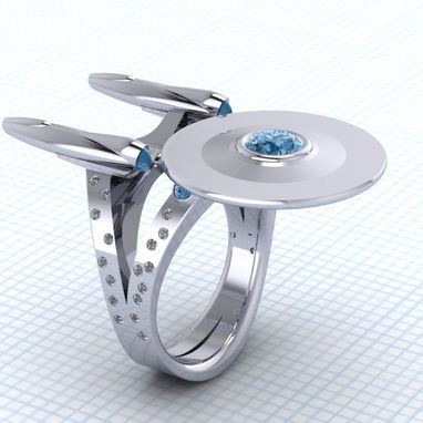 Custom Made The Original Boldly Going Ring!- Ladies