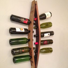 Gina Barrel Stave Wine Rack By Art Hough