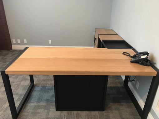 Custom Made Modern Desk  And Storage For The Professional