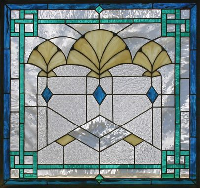 Custom Made Stained Glass Art Deco Fans