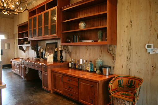 Custom Made Texas Mesquite Cabinetry And Hutches