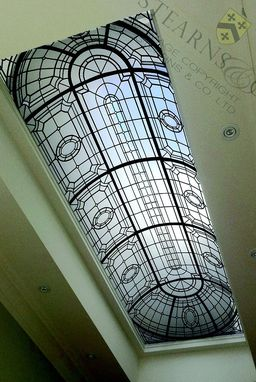 Custom Made Barrel Vault Leaded Glass Ceiling Dome.