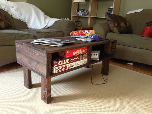 Custom Made Coffee Table/Tv Stand With Storage
