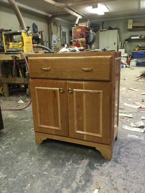 Custom Made Cherry Console Storage Cabinet