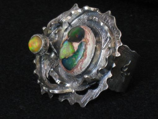 Custom Made Opal And Sterling Silver Ring