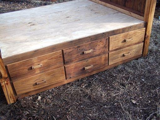 12 Drawer Rustic Reclaimed Wood Platform Storage Bed - Buy A Hand Made 12 Drawer Rustic Reclaimed Wood Platform Storage