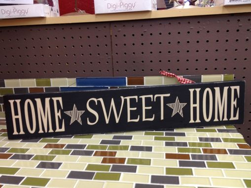 Custom Made Home Sweet Home-Hanging Sign