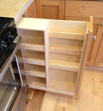Custom Made Pull Out Spice Rack