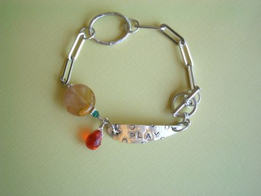 Custom Made Playtime Bracelet In Sterling Silver