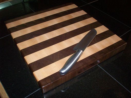 Custom Made Black Walnut And Maple Cutting Board