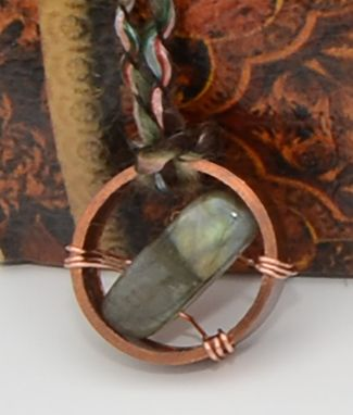 Custom Made Labradorite Copper Wheel