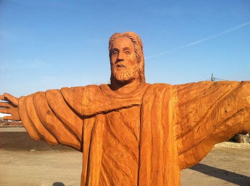 Custom Made Western Red Cedar Jesus Carving