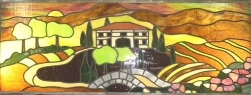 Custom Made Italian Villa In Stained Glass