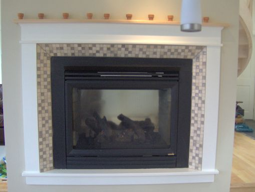 Custom Made Fireplace Surround With Solid Maple Mantel