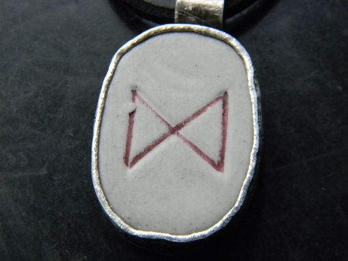 Custom Made Men's Pendant For A Ceramic Runestone