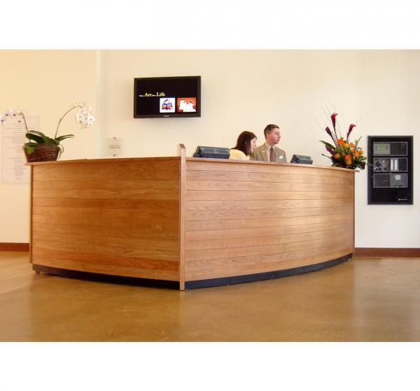 cool custom reception desk furniture | Custom Made Reception Desk by Paulus Fine Furniture ...