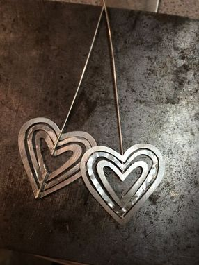 Custom Made Sterling Silver Heart Shaped Earrings