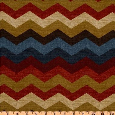 Custom Made Designer Curtain Panels Waverly Panama Wave Zig Zag Chevron In  Multi Color  108l X 50w