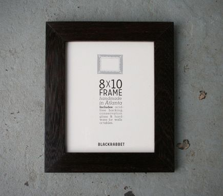 Custom Made Exotic African Wenge Wood Natural Finish Picture Frame (8x10)