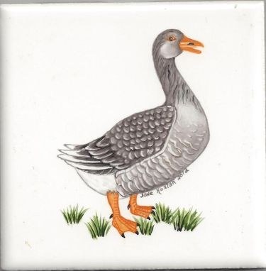 Custom Made Goose Tile